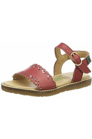 El Naturalista Kids Girls' E523 Vaquetilla Geranio/Africa Sling Back Sandals