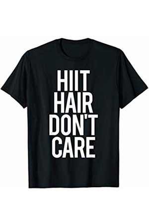 GYMCO Workout T-Shirts HIIT Hair Don't Care Funny Gym Saying Fitness Class Diet T-Shirt