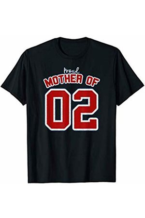 Mothers Day Gift Sports Style Proud Mother Of 02 Mothers Day Gift Baseball Sports Style Proud Mother Of 02 T-Shirt