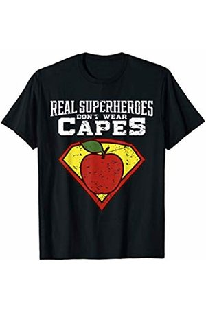Teacher Shirt | Inspirational Teaching Tee Real Superheroes Don't Wear Capes Teacher Shirt.