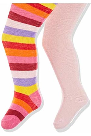 Playshoes Baby Girls' Ringel Und Uni Mit Komfortbund Tights (Original 900) 62/68 (Pack of 2