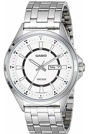 Casio Men's Quartz Watch with Dial Analogue - Digital Display and Metal Strap MTPE108D-7AVEF
