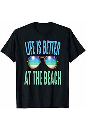 Fun For Summer Tees Life Is Better At The Beach Cool Summer Ocean Sunglasses T-Shirt