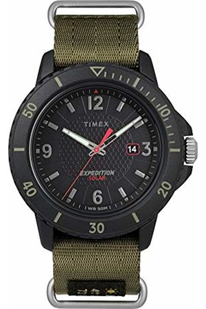 Timex Mens Analogue Classic Solar Powered Watch with Textile Strap TW4B14500