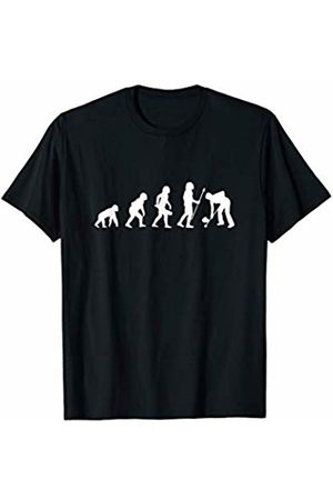 Cool Curling Player Coach Evolution Tees & Gifts Funny Curling Human Evolution Winter Sport T-Shirt