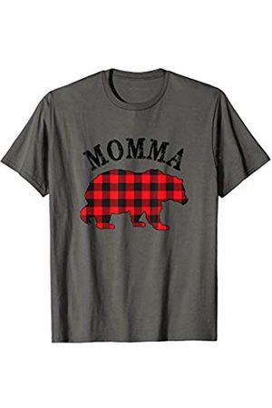 Cool Mama P Matching Family Christmas Pajamas Buffalo Red Plaid Momma Bear Matching Couple Xmas Pajama T-Shirt