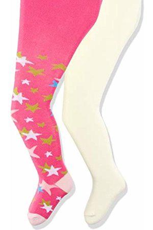 Playshoes Baby Girls' elastisch Sterne und Uni mit Komfortbund Tights