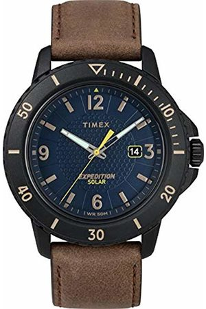 Timex Mens Analogue Classic Solar Powered Watch with Leather Strap TW4B14600
