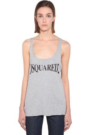 Dsquared2 Women Tank Tops - Cotton Jersey Tank Top