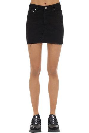 Represent Cotton Blend Denim Skirt