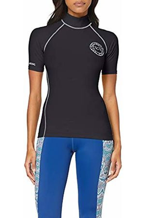 Billabong Women's Logo in Ss Swim Shirt - ( pebble 3920) - 6 (Manufacturer size: Small)