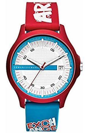 Armani Mens Analogue Quartz Watch with Silicone Strap AX2409