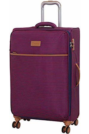 IT Luggage Beach-Stripes 4 Wheel Lightweight Semi Expander Medium With Tsa Lock Suitcase, 70 cm