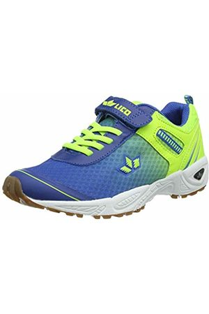 LICO Unisex Adults' Barney VS Multisport Indoor Shoes, Blau/Lemon