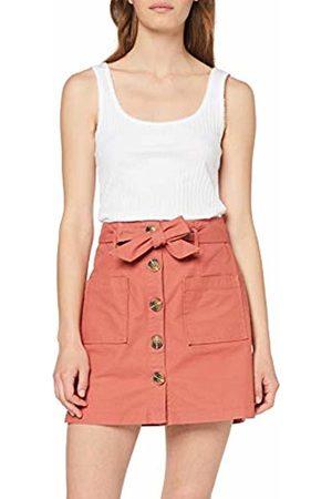 Miss Selfridge Women's Button Through Twill Skirt Pale 030