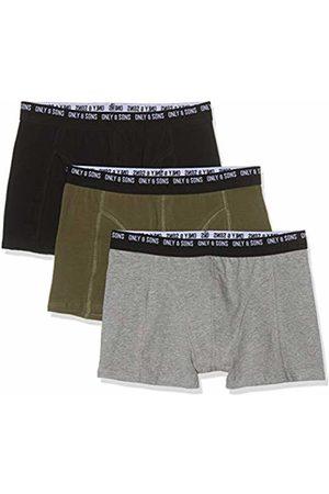 Only & Sons NOS Men's Onsnolen Trunk 3 Noos Boxer Shorts, Pack: -Olive Night-MGM