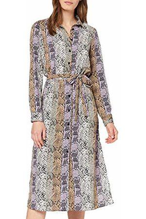 Miss Selfridge Women's Lilac Snake Print Midi Dress, 020