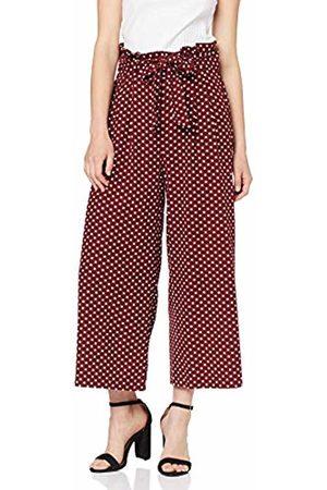 Miss Selfridge Women's Spotted Linen Paperbag Wide Leg Trousers 010