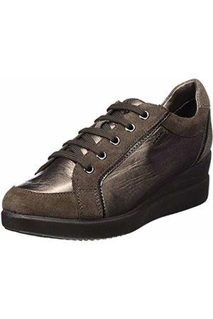 Geox D STARDUST A, Women's Sneakers, (Chestnut/leadc6j9h)