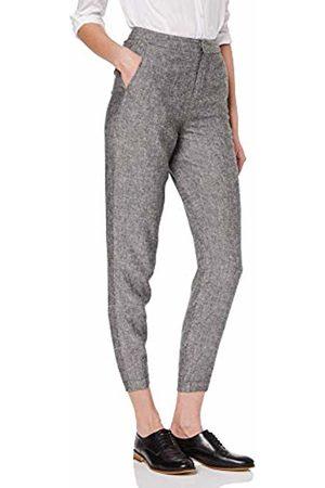 MERAKI Women's Linen Blend Chambray Cropped Trousers, )