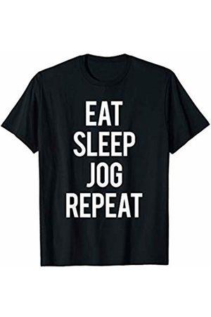 GYMCO Workout T-Shirts Eat Sleep Jog Repeat Jogging Workout Running Cardio Fitness T-Shirt