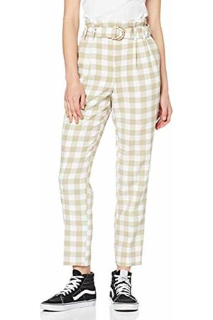 Miss Selfridge Women's Gingham Paperbag Trousers Tan 160