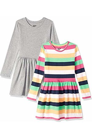 Spotted Zebra Knit Long-Sleeve Play Dress Multi-Stripe/