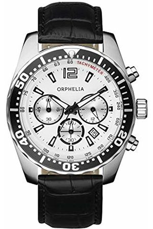 ORPHELIA Men's Quartz Watch with Dial Chronograph Display and Leather Strap