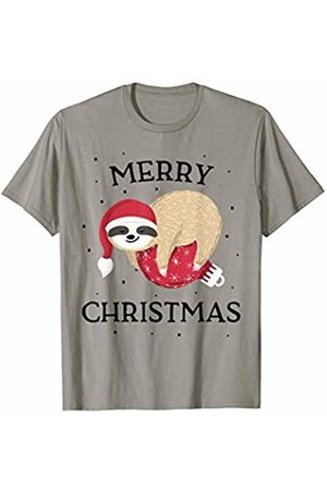 Christmas slothest Gifts Co Christmas Sloth Gift Women Girls Kids Men Pajamas T-Shirt