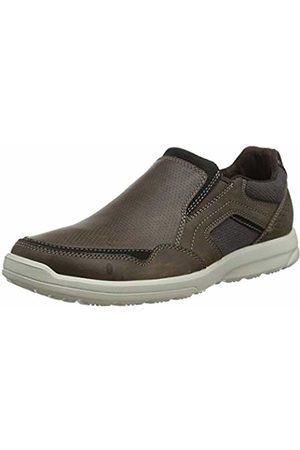 Rockport Men's Welker Casual Slip-On Loafers, (Dark Canvas 002)