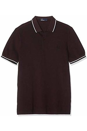 Fred Perry Men's M3600-d43-s Polo Shirt, (Mahogany Oxford / D43)