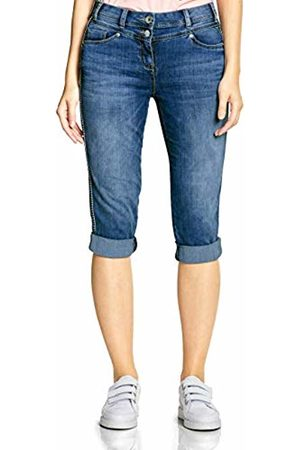 Cecil Women's 372213 Charlize Slim Jeans, (mid Used wash 10320)