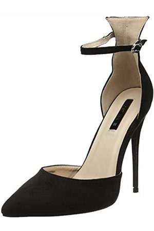Lost Ink Women's WF Jules Ankle Strap Court Closed Toe Heels, ( 0001)