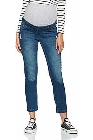 bellybutton Women's Hose Jeans m. Überbauchbund Maternity Trousers, (Dark Denim 0012)
