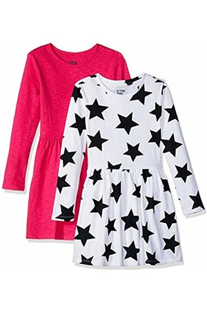 Spotted Zebra Knit Long-Sleeve Play Dress Star/