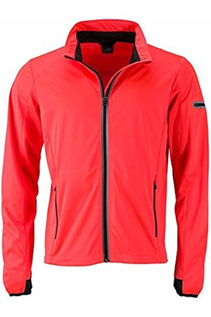 James & Nicholson Men's's Men's Sports Softshell Jacket Bright- /