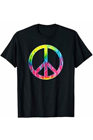 Hippie Peace Sign I Hippie Colorful Tie Dye Peace Sign T-Shirt