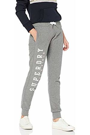 Superdry Women's Track and Field Lite Joggers Sports Trousers, (Dark Marl Q)
