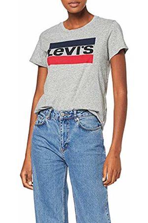 Levi's Women's The Perfect Tee T-Shirt, (Sportswear Logo Tee Smokestack 303)