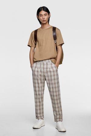 Zara Rustic check trousers