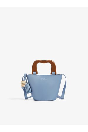 Zara Mini basket-shaped bag with wooden handles