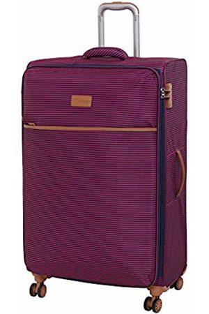 IT Luggage Beach-Stripes 4 Wheel Lightweight Semi Expander Large With Tsa Lock Suitcase, 80 cm