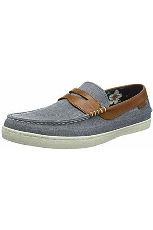 Cole Haan Men's Pinch Weekender Loafer Boat Shoes, ( Chambray Canvas/British Tan/Floral Lining Bl Chmb CNVS/Bt/Fl)