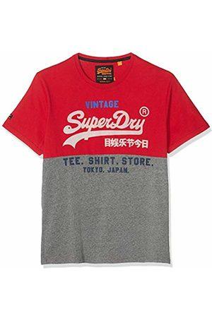 Superdry Men's Shirt Shop Tri Panel Tee T (Eagle A7z)