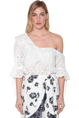 Self-Portrait Women Blouses - Leaf Techno Lace Blouse