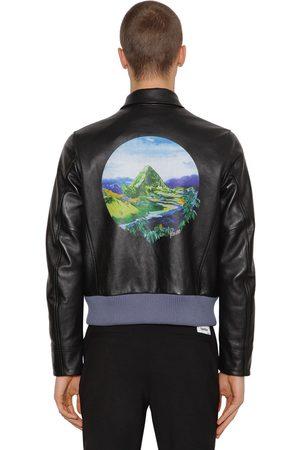 Kenzo Printed Lambskin Leather Jacket