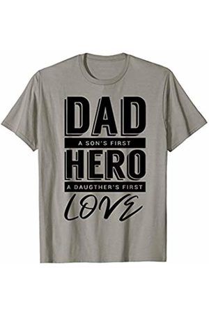 BullQuack Dad a son's first Hero - A Daughter's first Love - Proud T-Shirt