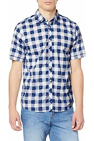 Tom Tailor Men's 1008843 Casual Shirt, Mid Washed Look 12186