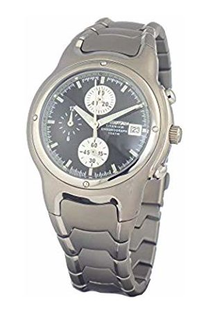 Chronotech Mens Chronograph Quartz Watch with Stainless Steel Strap CT7354M-01M