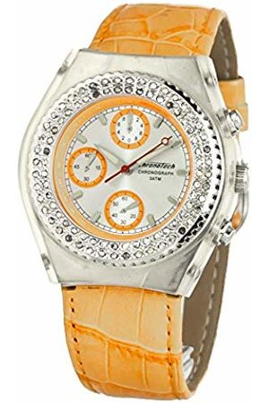 Chronotech Unisex Adult Analogue Quartz Watch with Leather Strap CT7284S-05